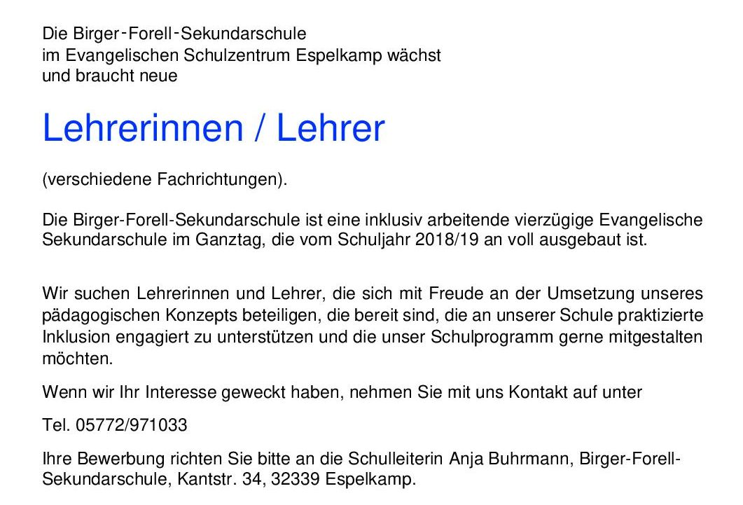 SekSchuleEspelkamp : Birger-Forell-Sekundarschule Espelkamp